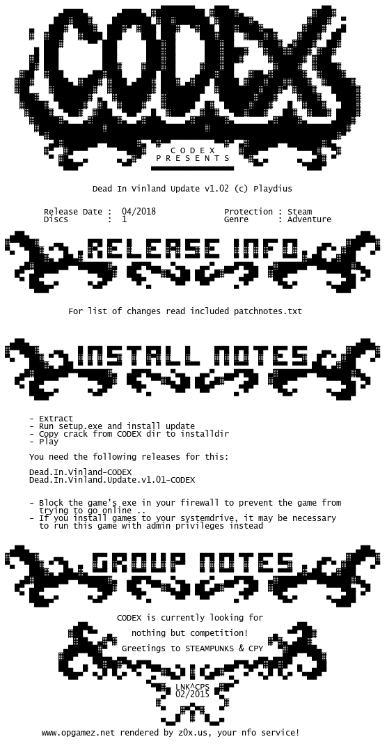 Dead.In.Vinland.Update.v1.02-CODEX codex.nfo